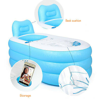 Adult PVC folding Portable bathtub inflatable bath tub Air Pump Fast Xmas Gift