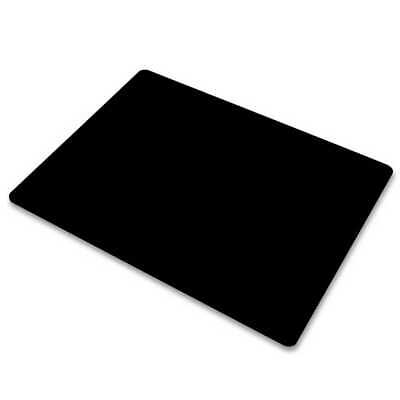 MousePad Antibatterico Tappetino per Mouse Notebook PC Ultrasottile Nero 22x18Cm