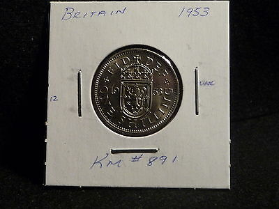 Uk (Great Britain):  1953   1 Shilling  Coin    (Unc.)   (#2369) Km # 891