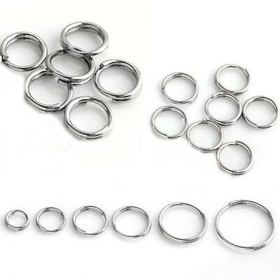 New Silver Plated Double Loop Split Open Jump Rings Connector 4/5/6/8/10/12/14mm