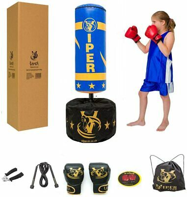 Viper Boxing Punch Bag Set  Kick Ball Junior Children Boys Free Standing Gloves