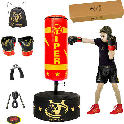 Kids Junior Boxing Punch Bag Speed Ball Set  Free standing Children Gym