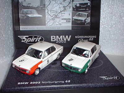 qq SPIRIT 0601306 BMW 2002 PACK CLASSIC DUO NÜRBURGRING '68 No 9 - No 10