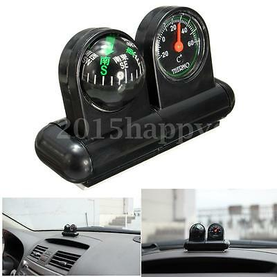 New 2 IN 1 REMOVABLE CAR COMPASS AND THERMOMETER ADHESIVE VAN TRUCK TRAILER AC49