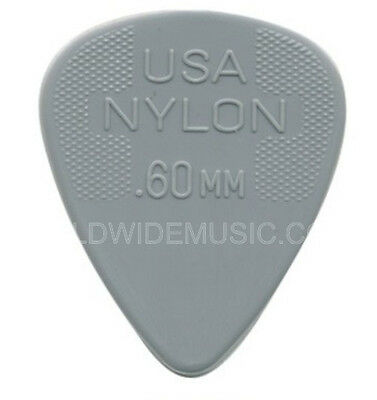 DUNLOP NYLON STANDARD GUITAR PICKS 0.60mm 12 PACK