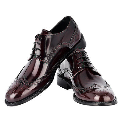 Scarpe Classiche Uomo Bordeaux Vintage Mens Dress Shoes Handmade Made In Italy