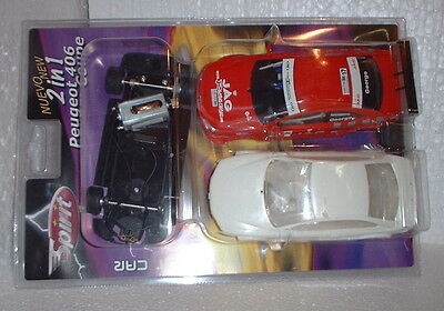 qq SPIRIT 501190 PACK 2 in 1 PEUGEOT 406 COUPE RED No17 GEORGE - WHITE