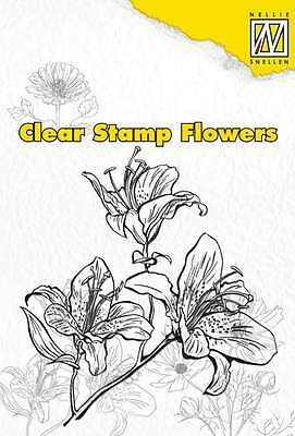 Nellies Choice Clearstamp flowers Lily 101203