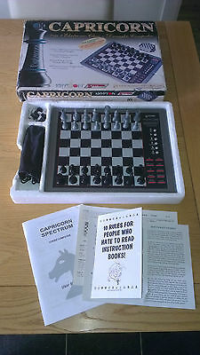 Capricorn 2 In 1 Electronic Chess + Draughts Computer Game - Pictures++++