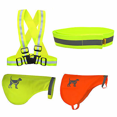 Various Bright High Visibility Safety Night Dog Walking Vests for You & Your Dog