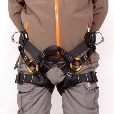 Outdoor Rock Tree Climbing Abseiling Fall Protection Rappelling Harness Seat