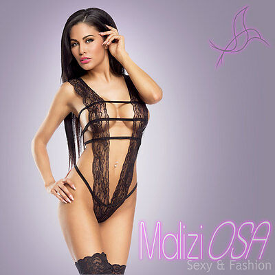 Body Donna Pizzo Nero Teddy Intimo Sexy Hot Lingerie Completino MaliziOSA