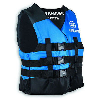 Yamaha Nylon life jacket safety vest PFD USCG approved Blue M medium size