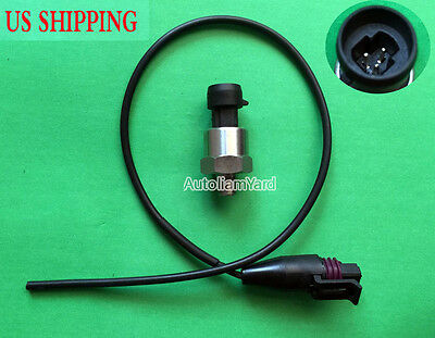 DC 5V 300 PSI NPT1/8 Water Gas Fuel Air Pressure Sensor Transducer W/ Cable NEW