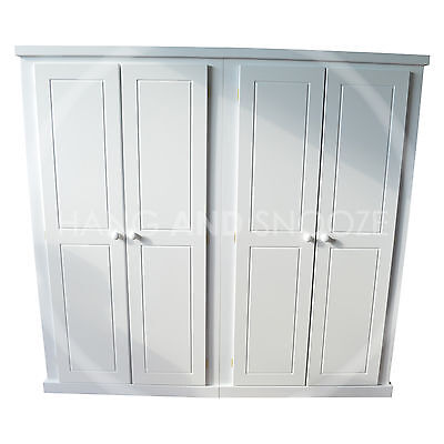Handmade Dewsbury Furniture Ladies 4 Door Wardrobe White (Assembled)