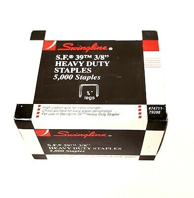 "Swingline 1/2"" HD Staples, 2 Box's, 10,000 staples - 100 sheets of 20lb paper"