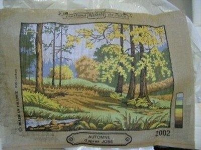 Automne D'Apres Jose Autumn Needlepoint Canvas And Wools 8.5x11.5 Inches, Margot