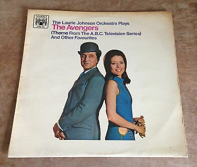 THE LAURIE JOHNSON ORCHESTRA the avengers 1967 UK MARBLE ARCH MONO VINYL LP