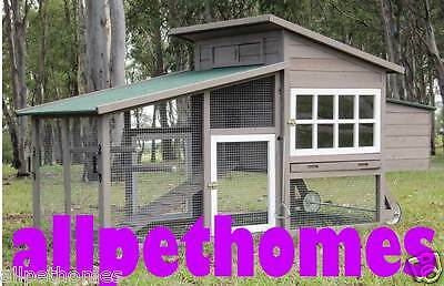 LARGE Chicken Coop Rabbit Hutch Ferret Cage Hen Chook House Guinea Pig Run W109