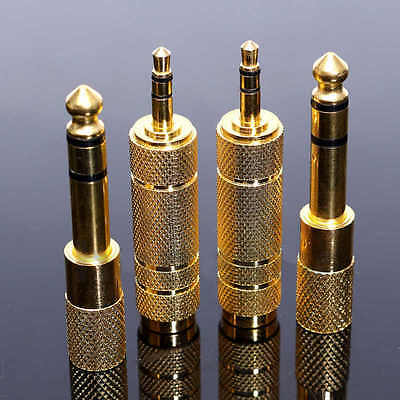 "4x 6.35mm 1/4""Male plug to 3.5mm 1/8""Female Jack Stereo Headphone Audio Adapter"