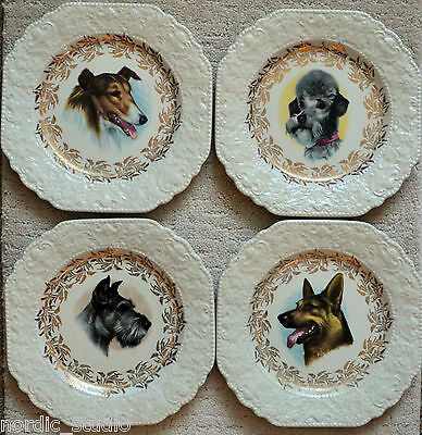 Dog Plate: Scottish Terrier Collie Poodle German Shepherd - Lord Nelson Pottery