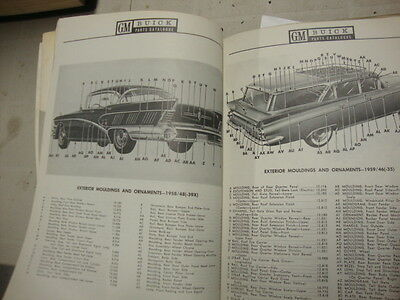 1958  to 1969 Buick special century roadmaster limited gm parts catalogue manual