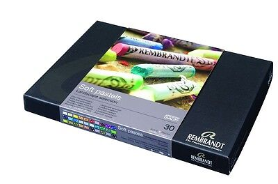 Rembrandt Soft Pastels Box of 30 Assorted Full Sticks - Landscape Selection Set