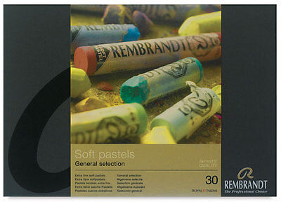 Rembrandt Soft Pastels Box of 30 Assorted Full Sticks - General Selection Set