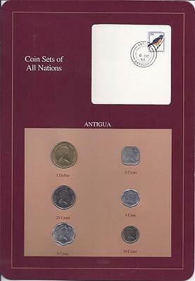 Coin Sets of All Nations, Antigua, 6 coin set