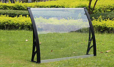 "30""*40"" Clear Polycarbonate Awning UV Protected Patio Canopy Window Door Garden"