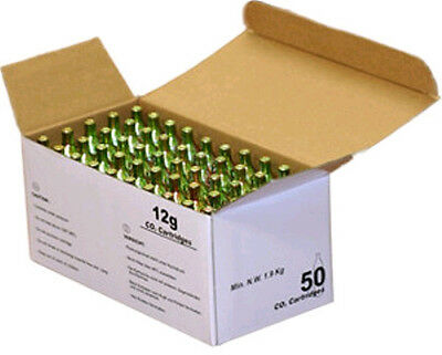 CR500, 12 GRAM CO2 NON THREADED CHARGERS - 4 boxes of 50 units