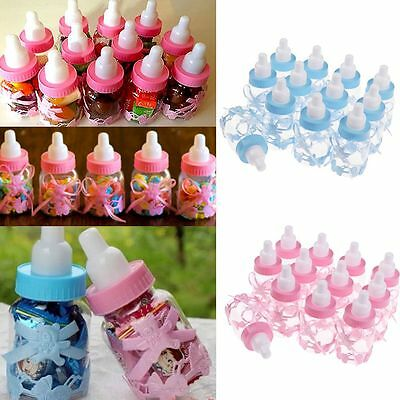 12/24 Fillable Bottles Baby Shower Christening Favor Table Party Decor Girls/Boy