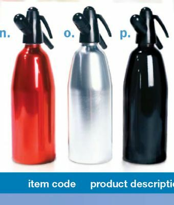 Cr110R, 1 Liter Mosa Soda Siphon -   Red, Silver Or White