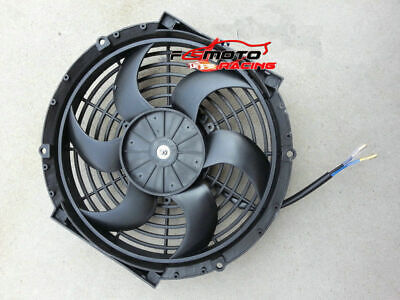 """16"""" 12V Slim Radiator Cooling Thermo Fan&Mounting kit ,universal electric fan"""