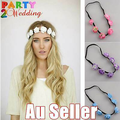 Boho Women Girls Floral Flower Hair Band Headband Beach Garland Party Wedding