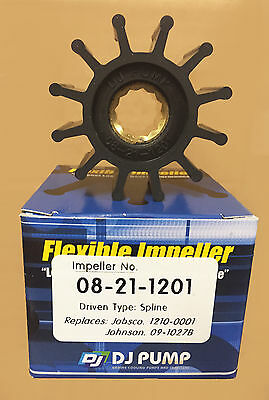 DJ Pump Impeller 08-21-1201  BLA 132842 Suits Jabsco 1210-0001 Johnson 09-1027B