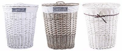 Various Wicker Laundry Basket Cotton Lining With Lid