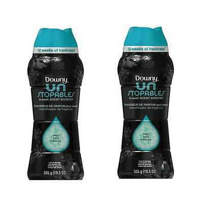 Downy Unstopables In-Wash Scent Booster - Fresh (19.5 oz) SET OF TWO (2)