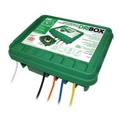 Dribox DB285G - GREEN Medium Weatherproof Connection Box Outdoor, Garden, Lights