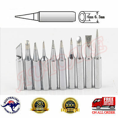 10pc Lead-free Solder Tip Set Iron//Tips 900M-T For 936-938 969 Soldering Station