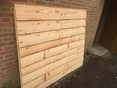 Larch Waney Edge Fence Panels Live Edge 6 Foot By 5ft Heavy Duty Thick Boards