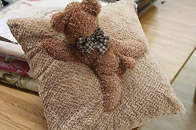 Super Soft Animal Teddy Bear Sheep Lamb Cushion Cover Filled Brown Kids Baby Set