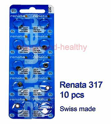 Renata SR516SW 317 Silver Oxide button Battery x 10 pcs Swiss Made FREE tracking