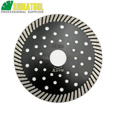 115MM Diamond hot pressed Saw Blades Narrow turbo wheel Fast cutting disc 4.5""