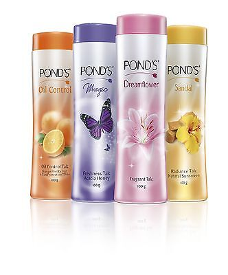 Pond's Talc  100 GM  Dreamflower/ Magic/ Sandal/ Oil Control  Talc