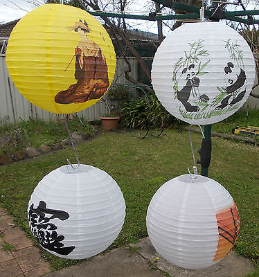 CHINESE PAPER LANTERNS 40CM  with  PAINTINGS