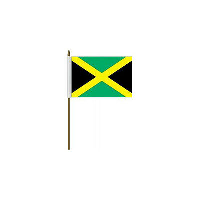 "Jamaica Mini Flag Bandera Both Sides Flag JA1145 4/"" x 6/"""