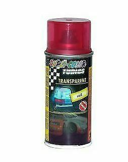 BOMBE VERNIS TRANSPARENT ROUGE 150ml POUR TEINTER FEUX DODGE CALIBER