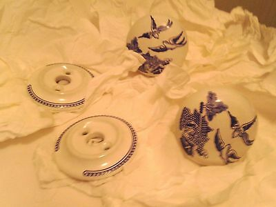 Set of 2 Vintage Porcelain Interior Door Knobs