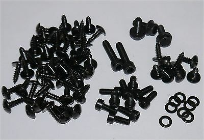 Complete Set Screws Fairing Bolts In Black Yamaha Aerox Mbk Nitro - 78 Parts New